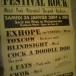 Festival Rock de Pechbonnieu hiver 2004
