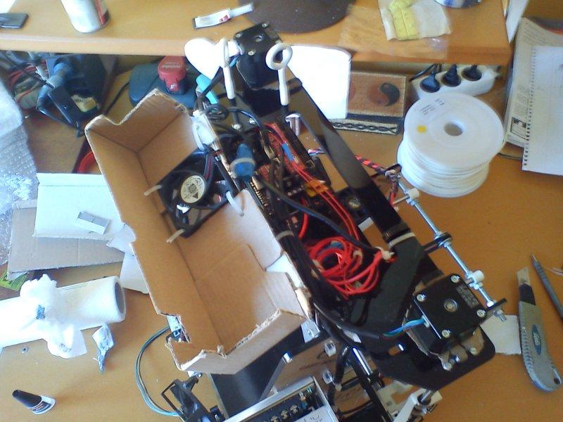 montage imprimante 3d - prusa air v2 - protection electronique