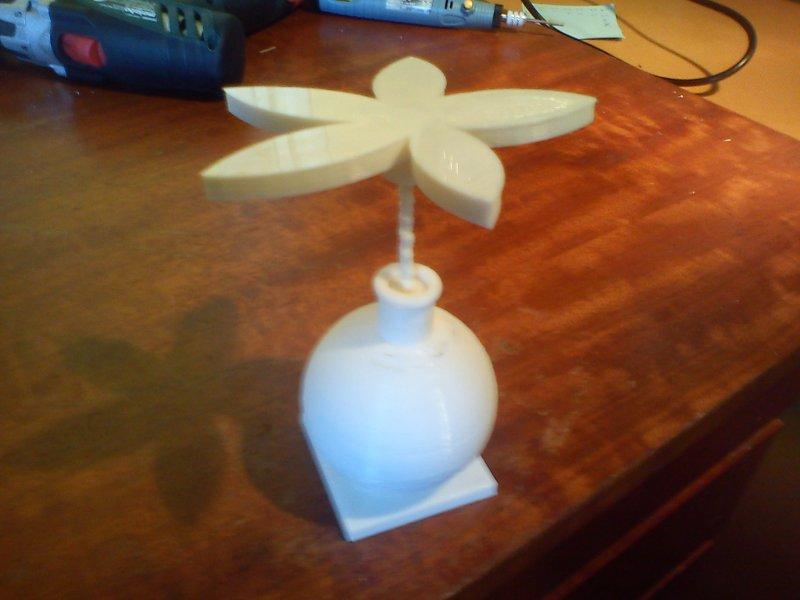 vase avec fleur - imprimante 3d