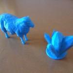 mouton et crystal imprimante 3d