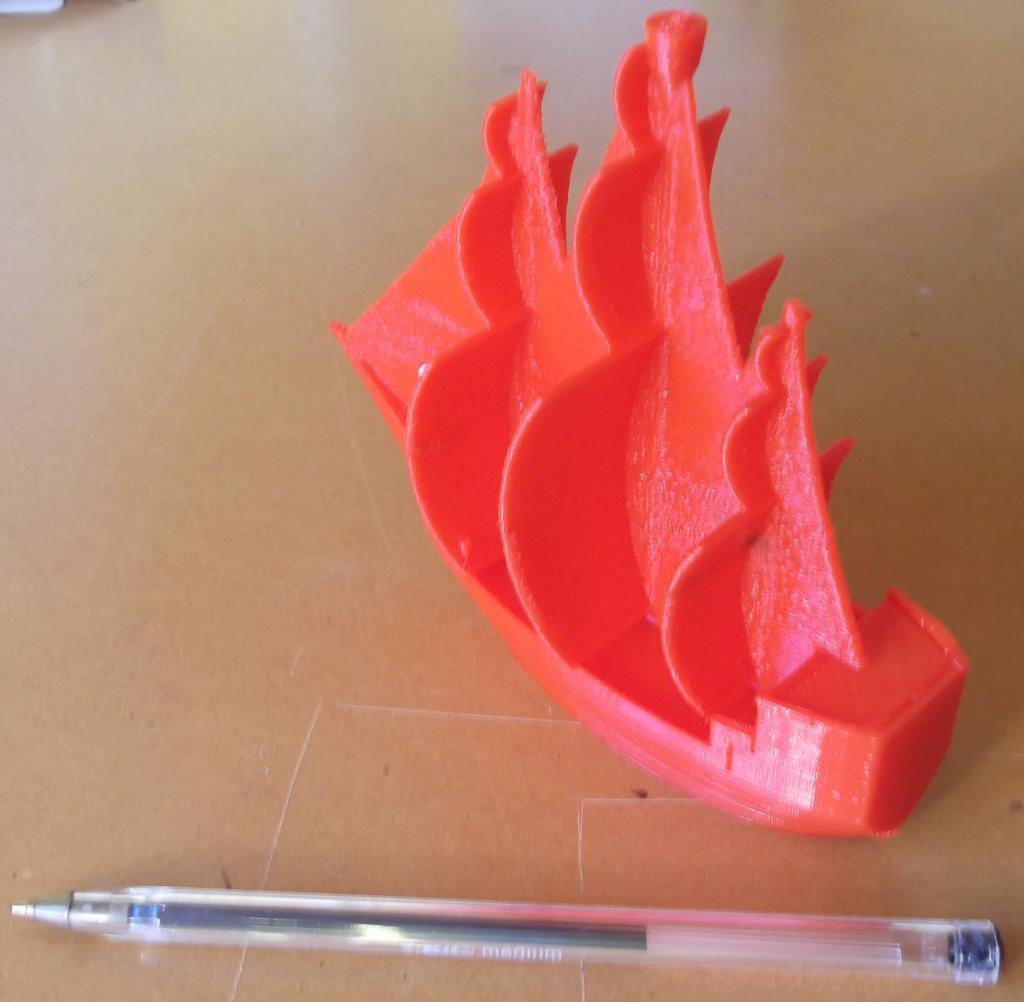 Bateau pirate imprimé en 3D