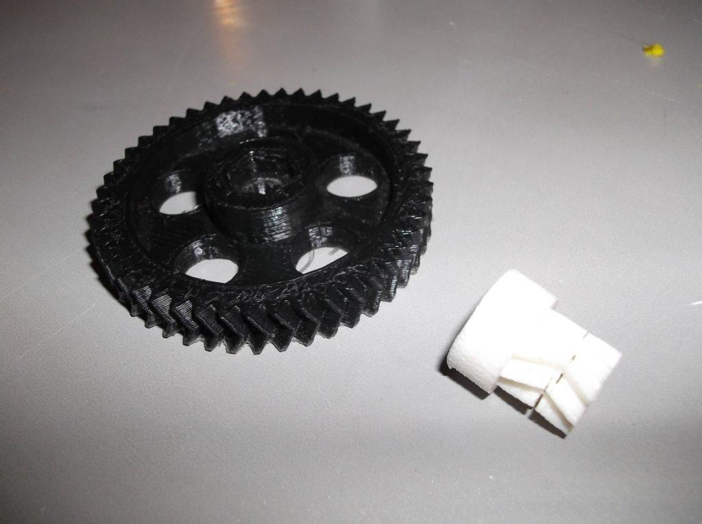 petite et grande roue extrudeur reprap