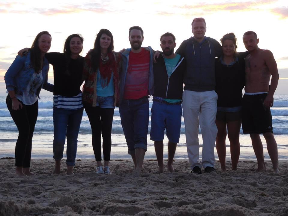 Team Digital nomads novembre 2015 - couché de soleil, plage